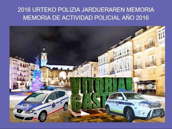 MEMORIA DE ACTIVIDAD POLICIAL AñO 2016