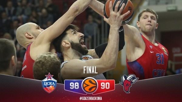 CSKA-k lehen partida irabazten du, baina menderatzea Baskonia-ri kostatzen zaio