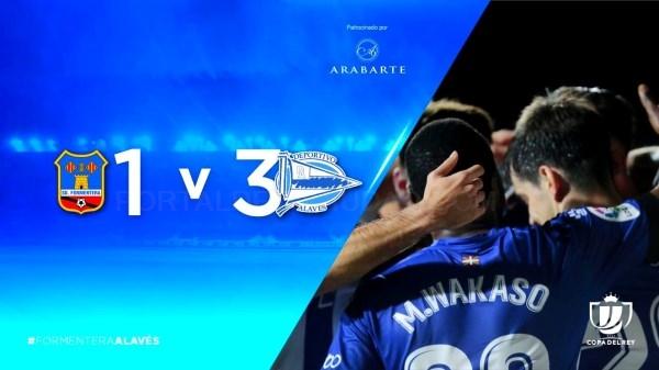 Buen comienzo del Deportivo Alavés en la eliminatoria de la Copa