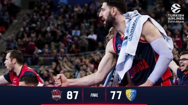 Importante victoria del Baskonia en el Buesa Arena