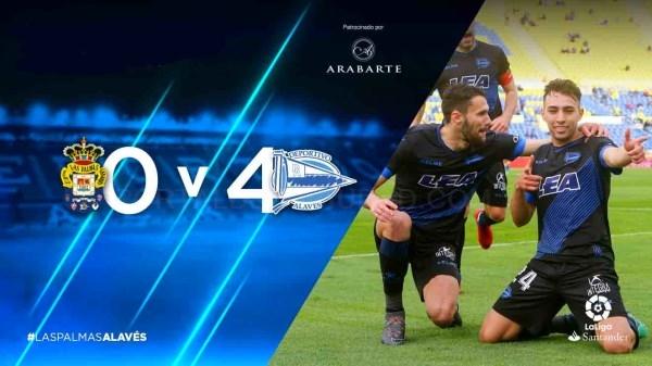 El Glorioso gana en Las Palmas y consigue la permanencia a cuatro jornadas de la finalización de la liga