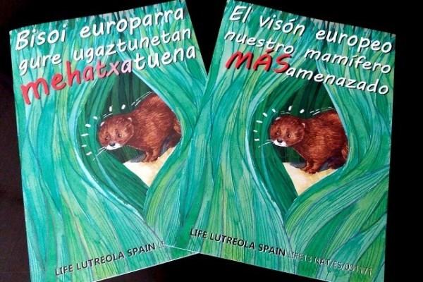 Cómic sobre el visón europeo editado por Diputación