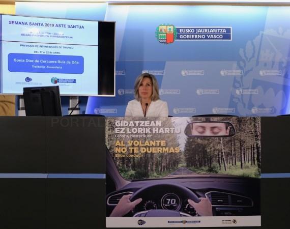 LA DIRECTORA DE TRáFICO, SONIA DíAZ DE CORCUERA /ARGAZKIA: ERTZAINTZA.EUS ERTA