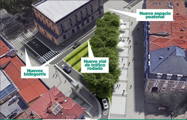 En la mañana de este lunes han comenzado las obras de reforma del entorno del Memorial de Víctimas del Terrorismo
