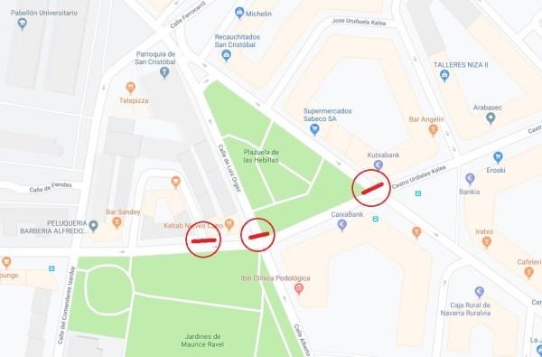 El montaje de vía en las calles Castro Urdiales y Nieves Cano generarán cortes de tráfico en Heraclio Fournier, Luis Orgaz y Zendaguren
