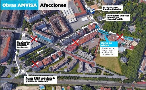 A partir del lunes cortes de tráfico que complicarán la circulación en el centro de nuestra ciudad