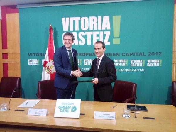 Firmado convenio para el impulso de proyectos de energía renovable en Vitoria-Gasteiz