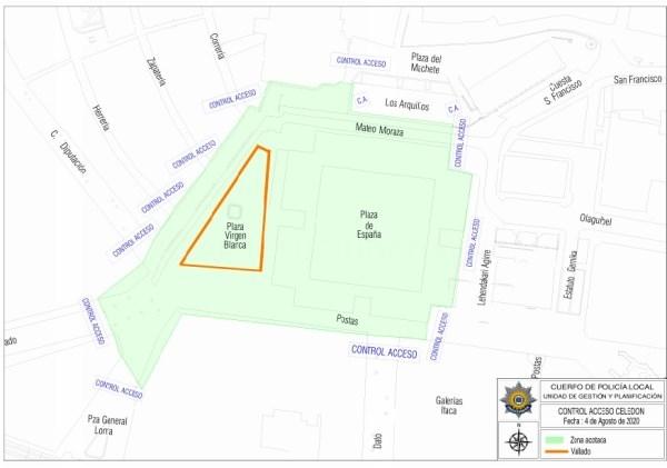 Policía Local y Ertzaintza establecerán 13 puntos de control en la Virgen Blanca y su entorno el 4 de agosto