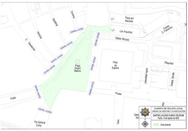 Policía Local y Ertzaintza esta tarde-noche restringirán de nuevo el acceso a la Virgen Blanca