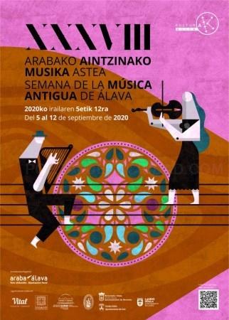 Mañana comienza la XXXVIII edición de la Semana de música Antigua