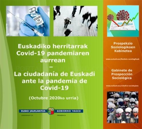 """Ante la situación de pandemia la opinión mayoritaria en Euskadi es que """"lo peor está aún por llegar"""""""