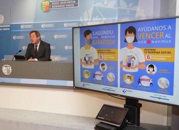 La intención del Gobierno Vasco es no tener que recurrir al confinamiento