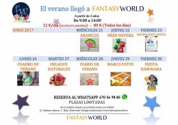 EL VERANO LLEGó A FANTASY WORLD