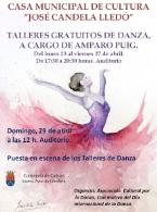 TALLERES GRATUITOS DE DANZA, A CARGO DE AMPARO PUIG.