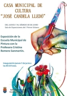 Exposición del alumnado de la Escuela Municipal de Pintura 2018 y de la directora Cristina Romero