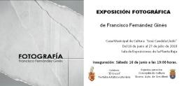 EXPOSICIÓN FOTOGRAFÍA de Francisco Ginés