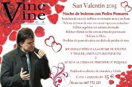 Noche de Boleros con Pedro Pomares Día Enamorados en Vine Vine Eventos