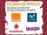 RECARGAS DE MÓVILES ELCHE, movistar, yoigo, Orange, Vodafone, HIELO ELCHE
