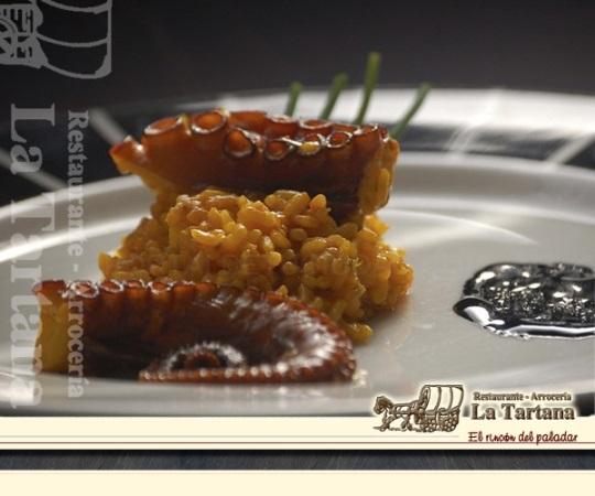 Carta Restaurante La Tartana