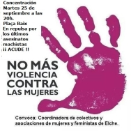 Concentración repulsa asesinatos machistas 25 de septiembre-Elx