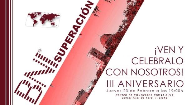 Tercer Aniversario de BNI Superación en el Centro de Congresos de Elche