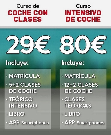 Clases de coche baratas Madrid moncloa Aravaca