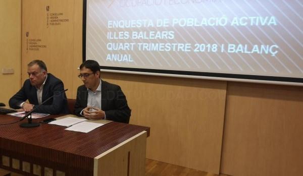 Las Illes Balears registran un máximo histórico de empleo en 2018 con 560.200 personas de media trabajando