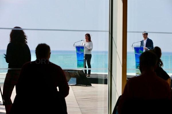 Armengol y Negueruela explican los medios alemanes en la ITB las iniciativas que desarrollan las Baleares para reiniciar la actividad turística de for