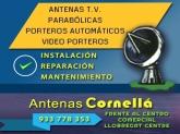 mantenimiento antenas tv cornella baix llobregat, reparación antenas cornella,