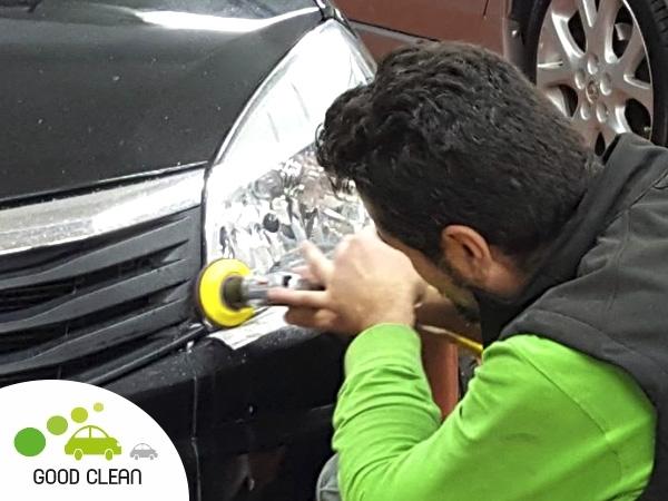 pulido faros limpiar ópticas automóvil Cornellá,