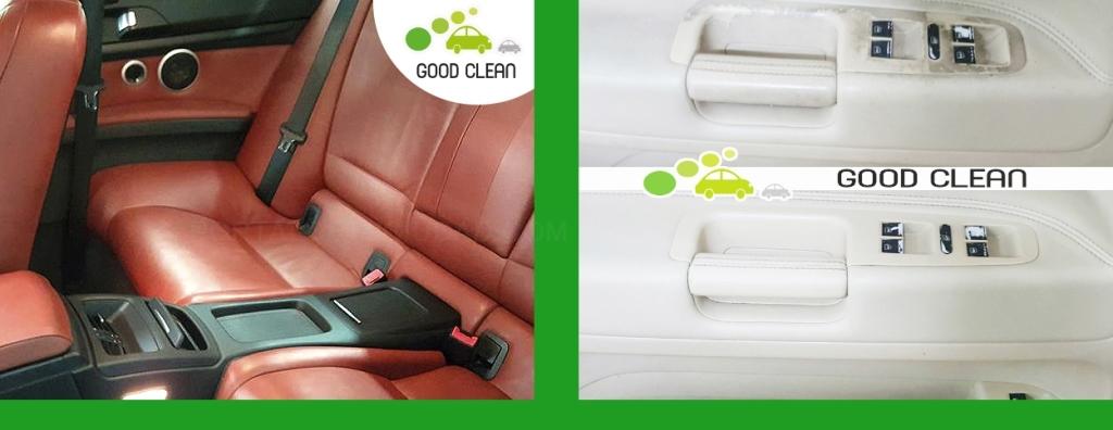 tratamiento piel tapicería automóvil Cornellá, limpieza integral gomas puertas coche,