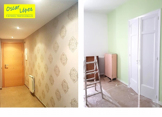 empresa pintores empapelar pisos casas chalets Baix Llobregat
