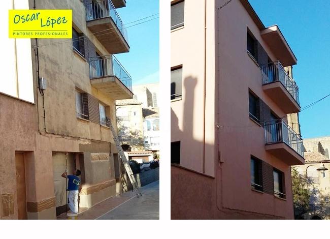 pintar restaurar fachadas en Manresa Igualada