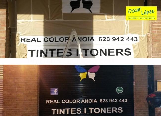 trabajos pintura persianas comercios tiendas Baix Llobregat