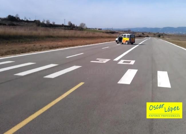 pintura señalización vial pistas Barcelona