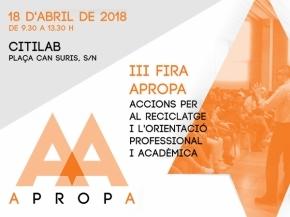 APROPA - III Mostra dels Ensenyaments 2018