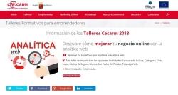 La Comunidad imparte un nuevo taller Cecarm sobre analítica web aplicada a negocios online.