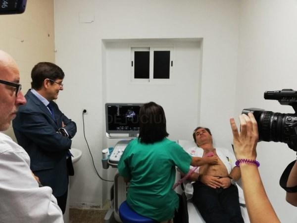 El centro de salud de San Antón en Cartagena cuenta con uno de los tres primeros ecógrafos de la red de atención primaria de la Región.