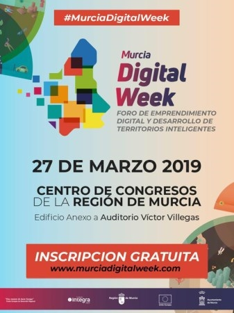 Abierto el plazo de inscripciones para participar en el congreso Murcia Digital Week.