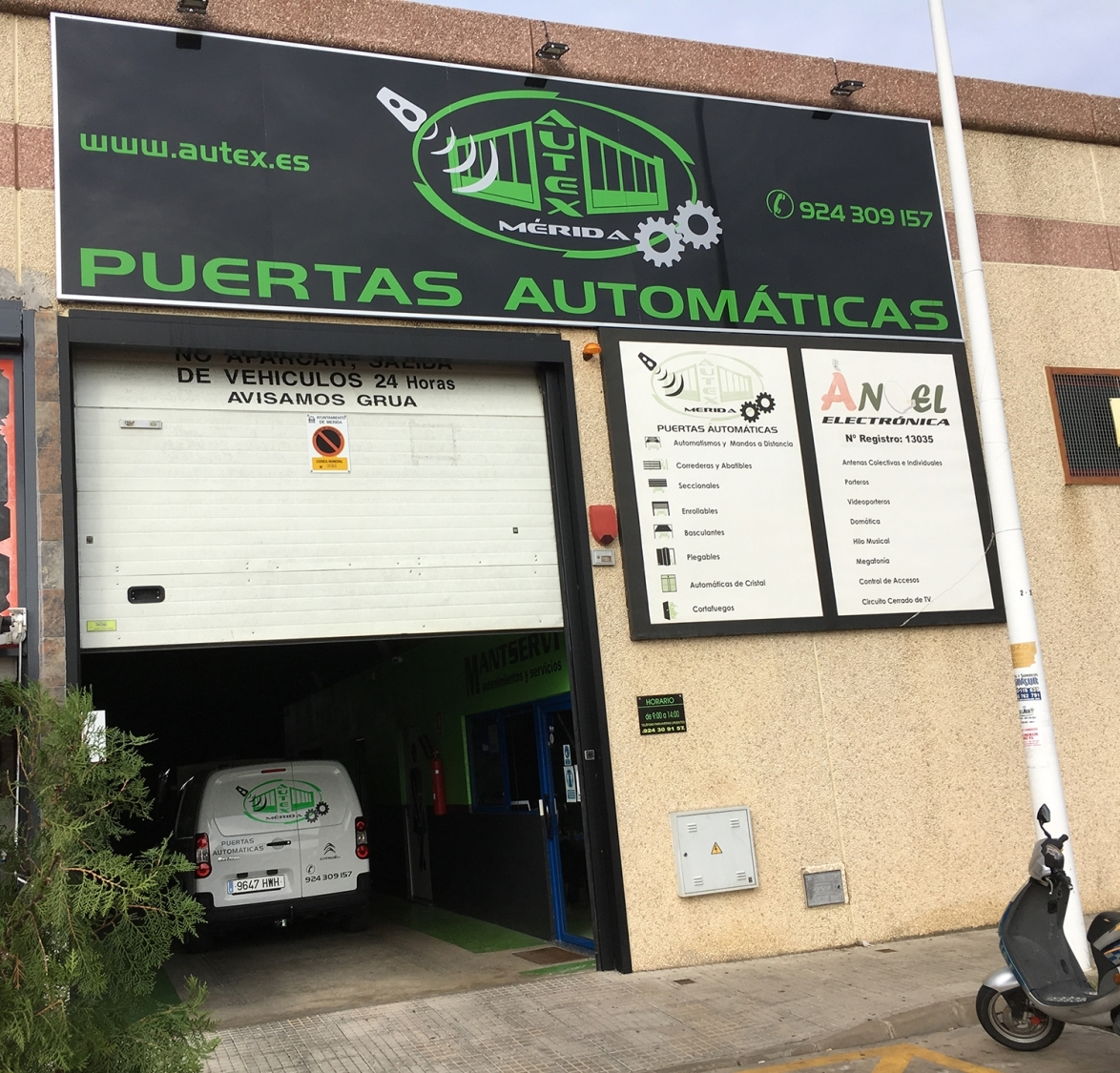 Autex Mérida - Automatismos, puertas automáticas
