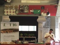 El joven cocinero extremeño Juan Manuel Salgado pone el broche a Experimenta Extremadura en Lisboa