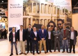 El alcalde Antonio Rodríguez Osuna y el delegado de Turismo Pedro Blas Vadillo, han presentado la oferta de ocio y cultural de Mérida para  el año