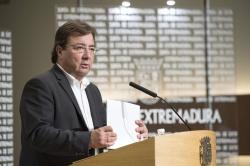 La Junta de Extremadura fija el 6 de noviembre como fecha límite para presentar los presupuestos de 2019 en el parlamento regional.
