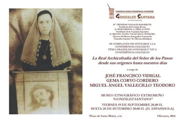 Una conferencia abordará la historia de la Real Archicofradía del Señor de los Pasos de Olivenza