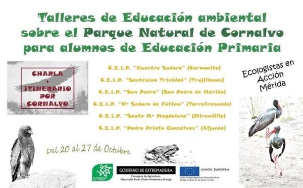 Estudiantes participan en talleres de educación ambiental sobre Cornalvo
