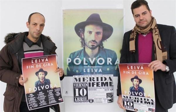 Leiva ofrecerá un concierto el 10 de abril en Mérida
