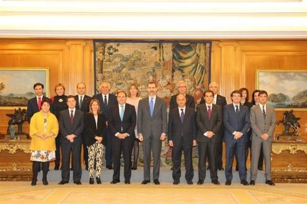 El Rey recibe a los alcaldes de las 15 ciudades que forman el Grupo de Ciudades Patrimonio de la Humanidad