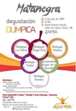Una actividad ofrece en Zafra una degustación sobre olimpismo y vino