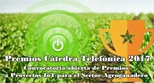 La Cátedra Telefónica convoca los premios anuales a proyectos IoT en el sector agroganadero.