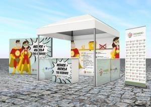 """La campaña """"Reduce y recicla tus residuos"""" se ha iniciado en Oliva de la Frontera y alcanzará a once poblaciones más de la provincia."""